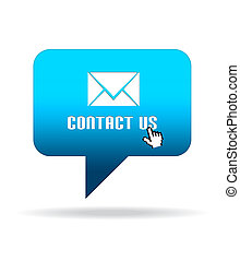 Contact Us Speech Bubble - High resolution Contact Us Speech...