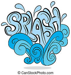 Water Splash Sound Effect Text - An image of a water splash...