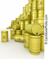 A barrels of radioactive waste. - A barrels of radioactive...