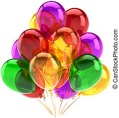 Party balloons classic multicolored