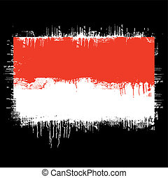 flag of poland - grunge illustration of flag of poland on...