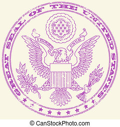 Great seal of the United States stamp