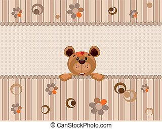 Card with bear