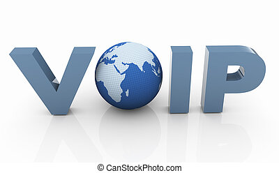3d voip - 3d render of Voip - Voice Over IP Internet...