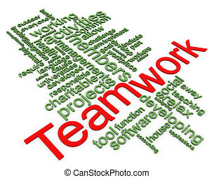 3d Wordcloud of teamwork