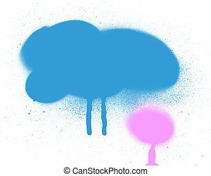 Graffiti spray paint background texture