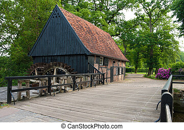 water mill in Lage, Germany. Originally build in 1677 and...