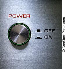 ボタン,  on-off, 力