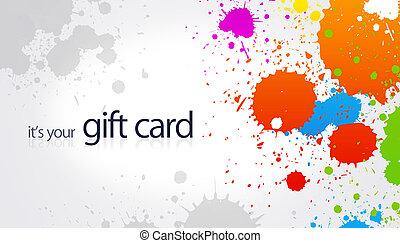Gift Card - Splash - High resolution gift card with splash...