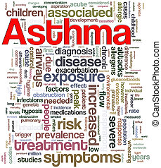 Asthma wordcloud - Illustration of wordcloud related to word...