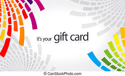 Gift Card - high resolution gift card with rainbow color...