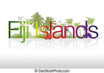 "Fiji Islands - High resolutions ""Fiji Islands"" illustration..."