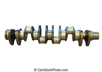crankshaft - The image of isolated crankshaft under the...