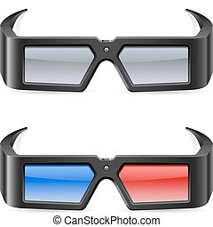 3d cinema glasses Illustration on white background