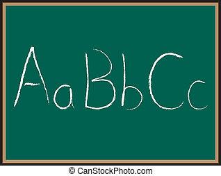 ABC letters on Chalkboard