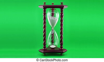Decorative Hourglass Time-lapse ove - Time-lapse footage of...