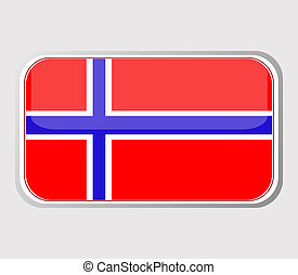 Flag of norway in the form. vector - Flag of norway in the...