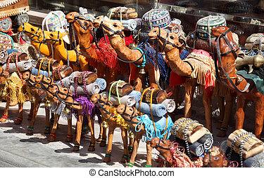 Camel souvenirs in Dubai, United Arab Emirates
