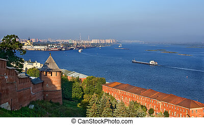 Nizhy Novgorod - Volga and Oka rivers, Nizhy Novgorod,...