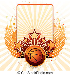 basketball background - vector background of basketball...