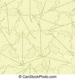 Leaf seamless background. - Vector seamless background with...