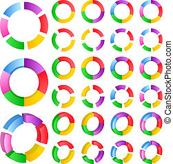 Vector abstract circles - Set of vector abstract circles on...