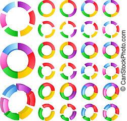 Vector abstract circles - Set of vector abstract circles on...