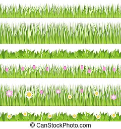Set of vector seamless grass