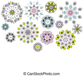 Geometric flowers, background for your design