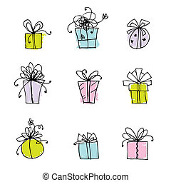 Gift box icons for your design