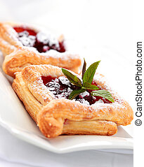 Cherry puff pastry - Delicious Cherry puff pastry with...