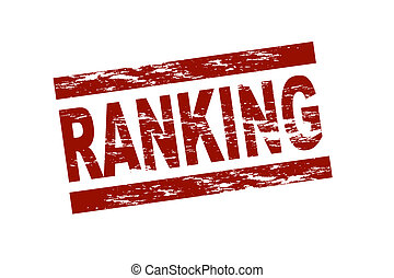Ranking - Stylized red stamp showing the term ranking All on...
