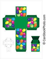 Easter egg treat box - A vector illustration of an Easter...