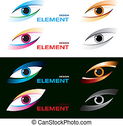 Striking eye - Vector illustration of logo striking eye