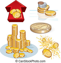 Money Collages - Detailed vector Money illustrations, icons