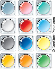 Multicolored Buttons - Vector multicolored buttons...