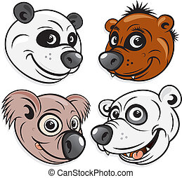 Bears, funky Panda, cute Brown Bear, silly Koala, angry...