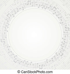 Music Frame - Music Round Frame, background