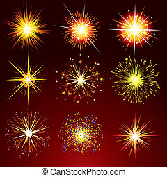 Firework Petards - Brightly Stars, Flashes, Fireworks,...