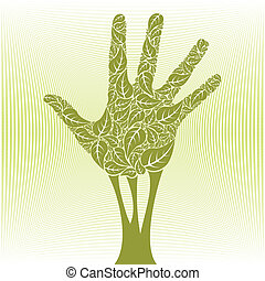Hand tree - Hand tree vector design