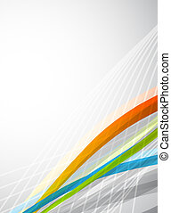 Vector color lines Abstract vector background - Vector...