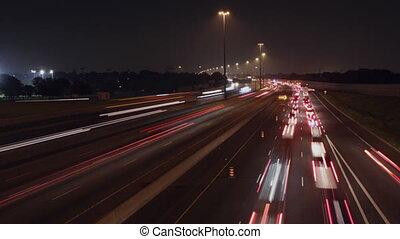 401 Highway timelapse. - Timelapse of Hwy 401 in Toronto at...