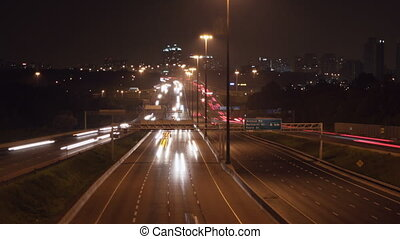 401 Highway timelapse. Zoom out. - Timelapse of Hwy 401 in...