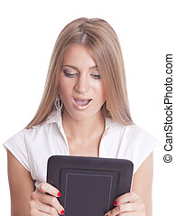 Beautiful Woman With Tablet Computer