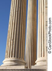 Marble roman columns - Marble columns in a roman temple in...