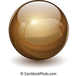 Glass sphere - 3D glass sphere, vector illustration.