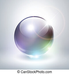 Abstract background with crystal sphere, vector illustration...