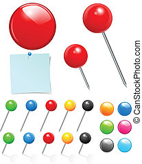 push pin collection - Vector push pin collection