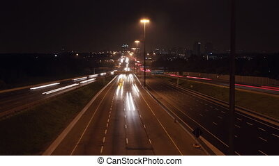 401 Highway timelapse. Wide. - Timelapse of Hwy 401 in...