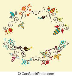 Floral frame - Vector floral elegant frame